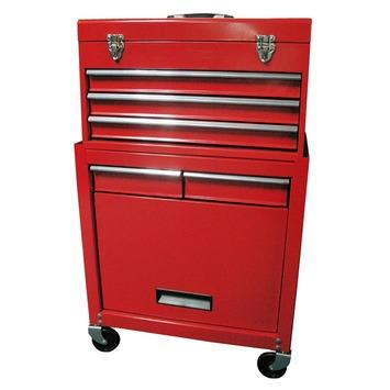 Erro gereedschapswagen opzetkist 5 laden rood