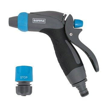 GAMMA sproeiaccessoires spuitpistoolset 2-delig grijs met blauw 1/2 inch