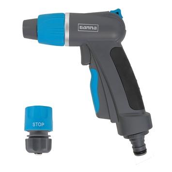 GAMMA sproeiaccessoires spuitpistoolset 2-delig luxe grijs met blauw 1/2 inch