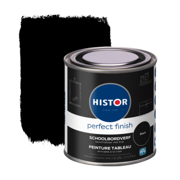 Histor Perfect Finish schoolbordverf Black 0,25 liter