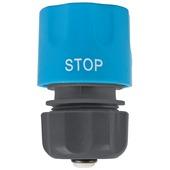 GAMMA sproeiaccessoires slangkoppeling waterstopkunststof 1/2 inch grijs met blauw