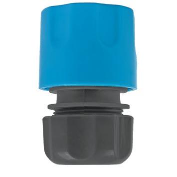 GAMMA sproeiaccessoires slangkoppeling kunststof 1/2 inch grijs met blauw