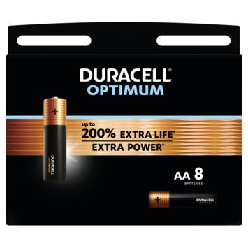 Duracell Batterij AA Alkaline Optimum 8 stuks