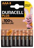 Duracell Batterij AAA Alkaline Plus SO 8 stuks