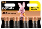 Duracell Batterij AA Alkaline Plus SO 8 stuks