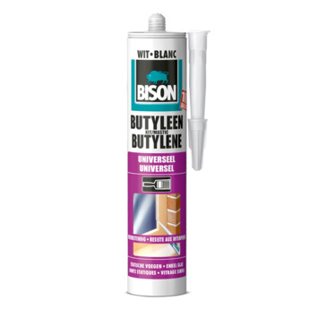Bison butyleenkit wit 300 ml