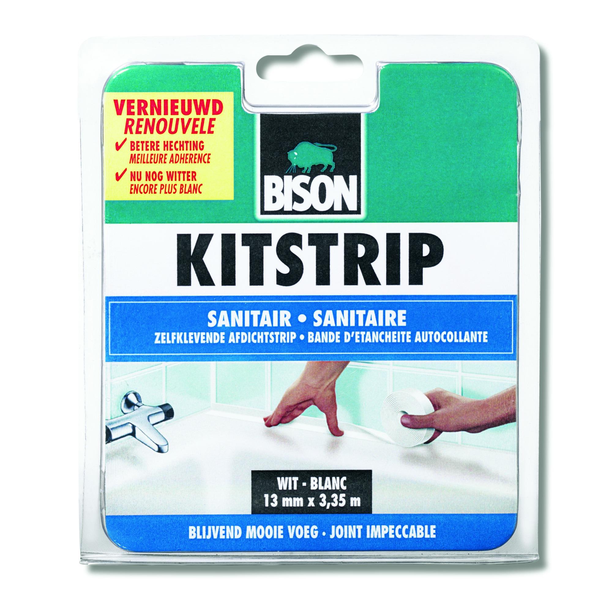 Bison kitstrip sanitair wit 22 mm x 3,35 m