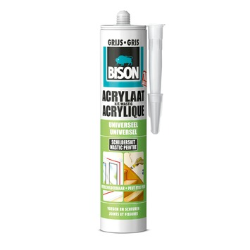 Bison acrylaatkit grijs 300 ml