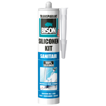 Bison siliconenkit sanitair transparant 300 ml