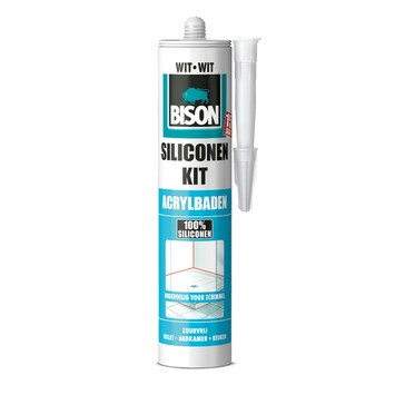 Bison siliconenkit acrylbaden wit 300 ml