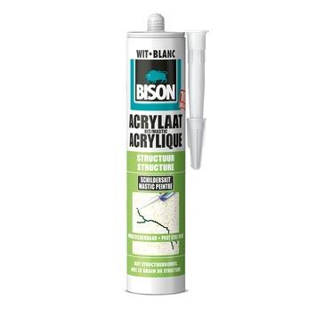 Bison acrylaatkit structuur wit 300 ml