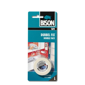 Bison Dubbel fix tape 19 mm x 1,5 meter