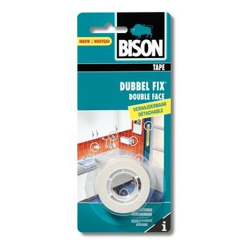 Bison Dubbel fix dubbelzijdige tape verwijderbare19mmx1,5m