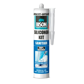 Bison siliconenkit sanitair antraciet 300 ml