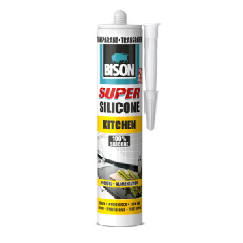 Bison super siliconenkit keuken transparant 310 ml