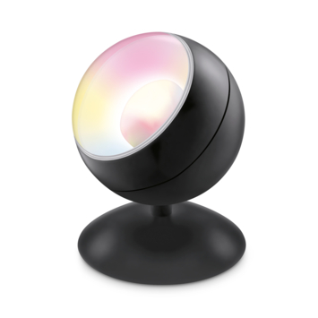 WiZ Connected LED tafellamp zwart Quest kleur licht dimbaar
