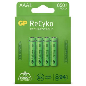 GP Oplaadbare Batterij ReCyko AAA 850mAh 4 Stuks