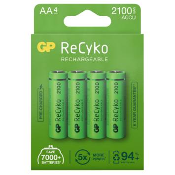 GP Oplaadbare Batterij ReCyko AA 2100mAh 4 Stuks