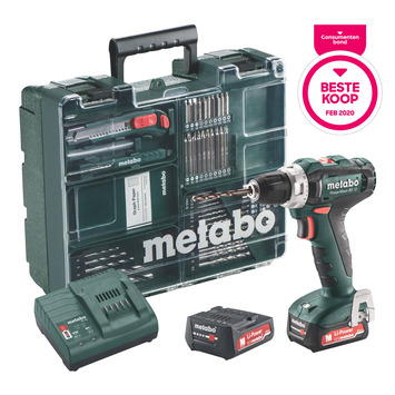 Metabo accuboormachine PowerMaxx BS12 set