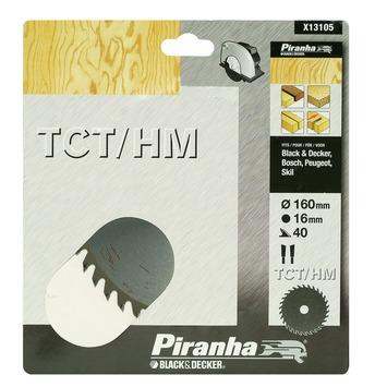 Piranha cirkelzaagblad TCT-HM 160x16 mm 40 tanden X13105-XJ