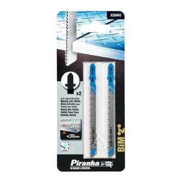 Piranha decoupeerzaagblad aluminium T-schacht 3-10 mm 2 stuks X25042-XJ