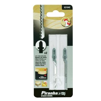 Piranha decoupeerzaagblad hout voor bochten T-schacht 20 mm 2 stuks X21042-XJ