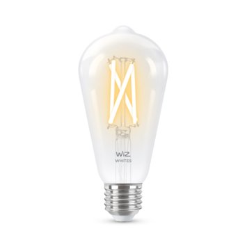WiZ Connected LED edison E27 60W filament helder koel tot warmwit licht dimbaar