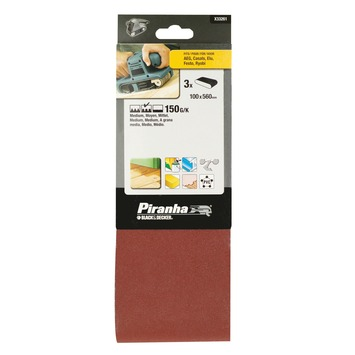 Piranha schuurband K150 560x100 mm 3 stuks X33261-XJ