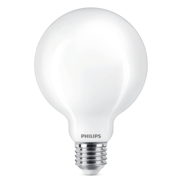 Philips LED globe E27 60W wit mat niet dimbaar