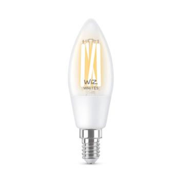 WiZ Connected LED kaars E14 40W filament helder koel tot warmwit licht dimbaar