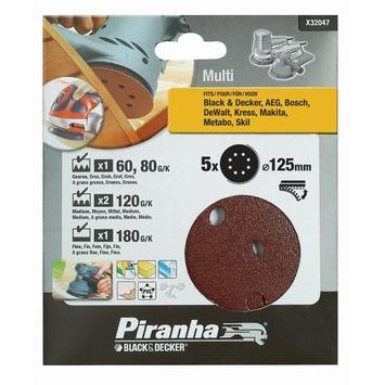 Piranha schuurschijf excentrische schuurmachine 125 mm 5 stuks X32047-XJ