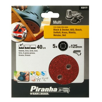 Piranha schuurschijf K40 125 mm 5 stuks X32177-XJ