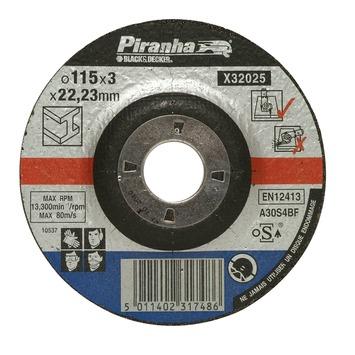 Piranha doorslijpschijf metaal 115x3,2 mm 6 stuks X32025A-QN