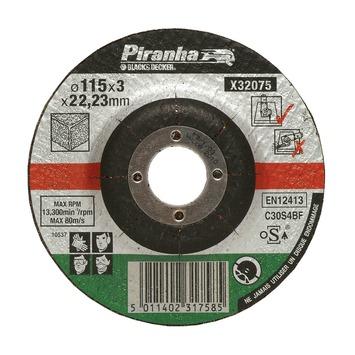 Piranha doorslijpschijf steen 115x3,2 mm 6 stuks X32780-QZ