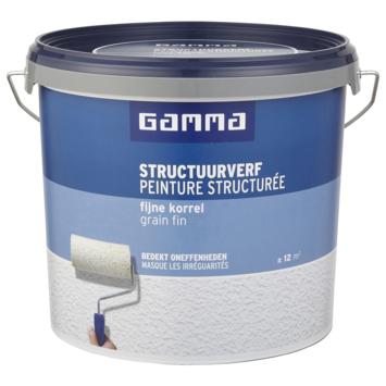 GAMMA structuurverf wit 5 liter