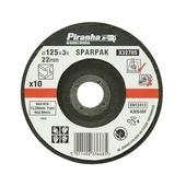 Piranha doorslijpschijf metaal 125x3,2 mm 10 stuks X32785-QZ