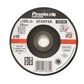 Piranha doorslijpschijf steen 125x3,2 mm 10 stuks X32790-QZ