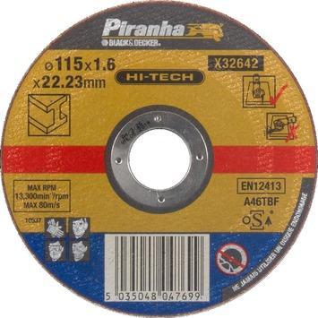 Piranha HI-TECH doorslijpschijf metaal 115x1,6 mm X32642-QZ