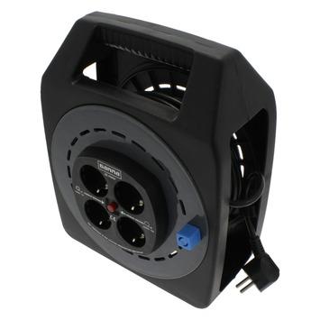 Zeer GAMMA | GAMMA kabelhaspel vinyl zwart 3x1 mm 25 meter kopen? | haspels UR44