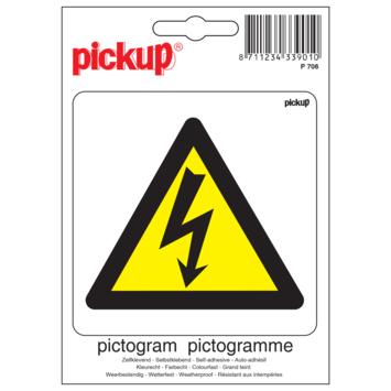Pickup Pictogram 10x10cm Gevaar voor electrische spanning