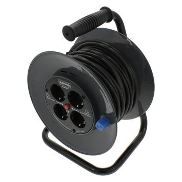 Geliefde GAMMA | GAMMA kabelhaspel vinyl zwart 3x1 mm 25 meter kopen? | haspels HD25