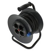 GAMMA kabelhaspel vinyl zwart 3x1 mm 25 meter