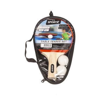 SportX Tafeltennisset inclusief ballen in tas