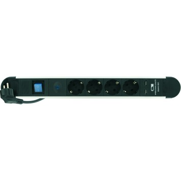 Elro multimediastekkerdoos ET441AOU zwart