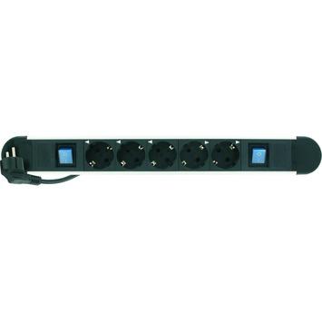 Elro Power supply stekkerdoos met 2 schakelaars 5V ET451AS2 zwart 3x1,5 1,5 meter snoer