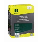 Beamix cement wit 4 kg