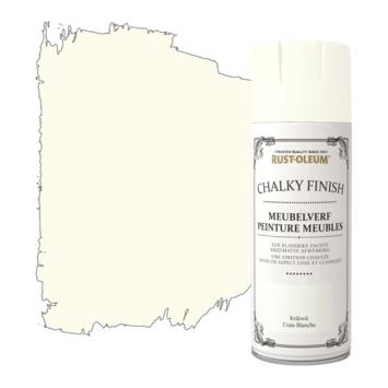 Rust-Oleum meubelverf spuitbus krijtwit 400 ml