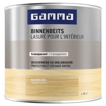GAMMA binnenbeits transparant 250 ml kleurloos