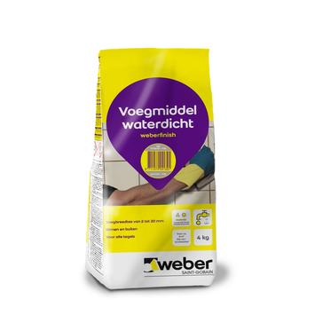 Weber Wand & Vloer voegmiddel lichtgrijs 4 kg