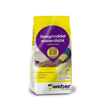 Weber Wand & Vloer voegmiddel grijs 4 kg